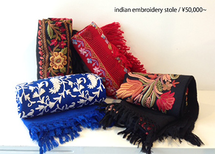 indian embroidery stole ¥50,000~